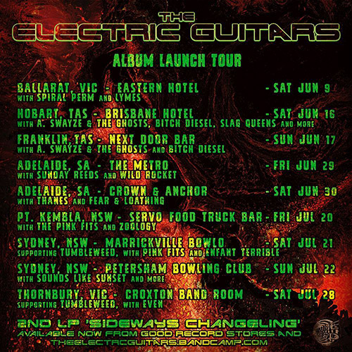 electric guitars tour